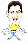 Weight Lifter cartoon