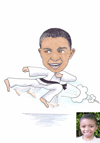 Karate Black BeltBlack Karate Cartoon